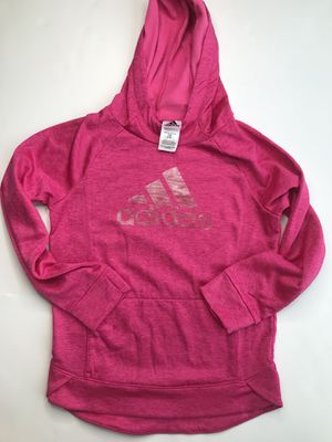 Hot pink adidas hoodie kids large adult small for Sale in Clermont, FL