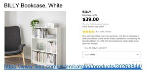 IKEA white bookcase only $23! Perfect condition almost new furniture! for Sale in Chicago, IL