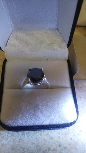 Black Diamond Ring Women's Size 7 for Sale in Tacoma, WA