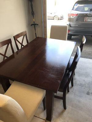 Pier 1 table w/ 4 chairs and 2 ikea cushion chairs for Sale in Gambrills, MD