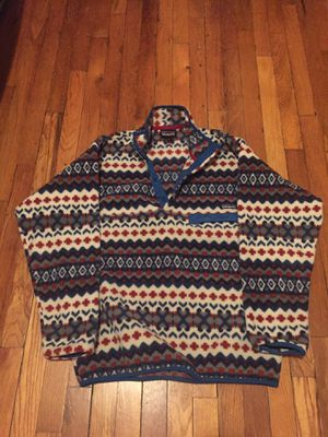 Patagonia synchilla fleece pullover medium for Sale in Jamaica, NY