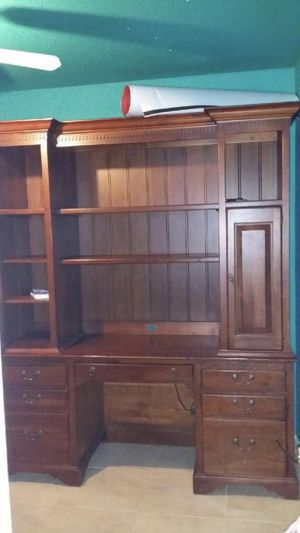 Antique office table/file cabinet/book shelf for Sale in Houston, TX