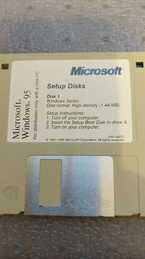 "Windows 95 3.5"" setup disks for Sale in Maricopa, AZ"