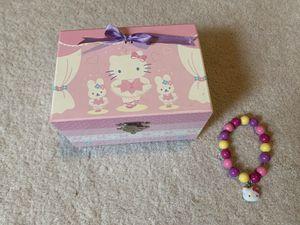 Hello Kitty musical jewelry box with bracelet for Sale in Lake Oswego, OR
