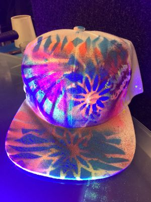 Used, $20~RARE Hats~ Spray painted, fabric markered hats with GLOW for sale  the DARK!!! for Sale