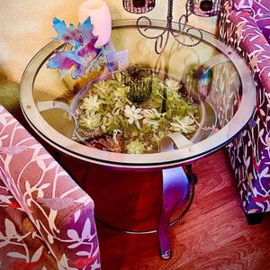 Round End/Side Table with Live Rooted Succulents for Sale in Benicia, CA