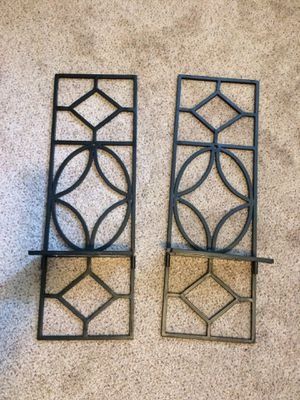 Metal wall decor / shelves - set of 2 for Sale in Seattle, WA