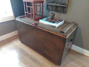 Antique cedar chest/ bench/ window bench on wheels for Sale in Cleveland, OH