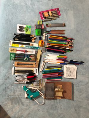 Art supplies-drawing/painting pencils, markers, glue gun etc for Sale in Cleveland, OH