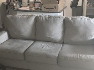 Tan/Grey couch & loveseat set (also can be sold separately) for Sale in Aurora, CO