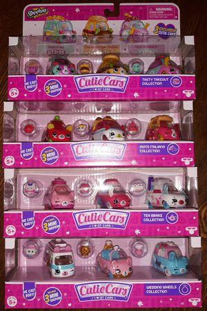10.00 each new shopkins cutie cars 3 pack for Sale in Saint Paul, MN