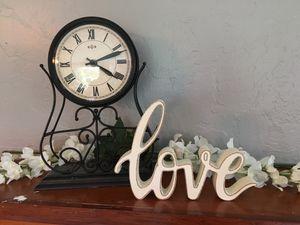 White Glittery Love Sign for Sale in Okolona, MS