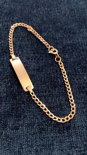 18K GOLD bracelet kids size solid oro para niños for Sale in Houston, TX