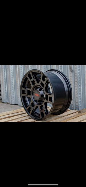 "Toyota Tacoma trd style 17"" new style rims tires set for Sale in Hayward, CA"