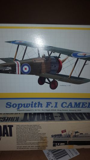 Eduard Sopwith F-1 Camel. WW 1 RNAS fighter plane. for Sale, used for sale  Horizon City, TX