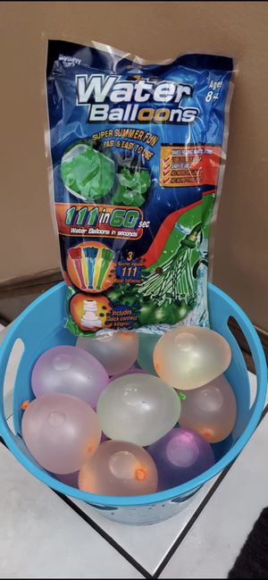 5 packs of Self Sealing Water Balloons each has 111 pcs. for Sale in Oak Lawn, IL