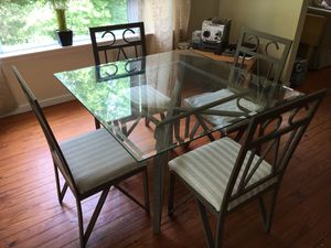 Dining Room Table - Wrought Iron & Glass for Sale in Faber, VA