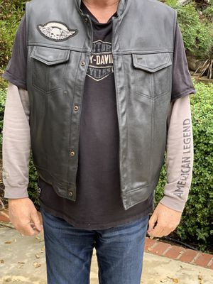 Leather motorcycle vest 3XL for Sale in Winchester, CA
