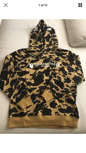 A Bathing ape x mastermind hoodie Yellow Camo M for Sale in Miami, FL