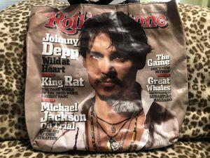 Rolling Stones Magazine Tote Bag w/ Johnny Depp- NEW OBO for Sale in Oak Glen, CA