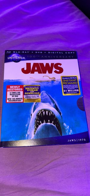 Jaws 100th anniversary BluRay DVD for Sale in Bellmore, NY