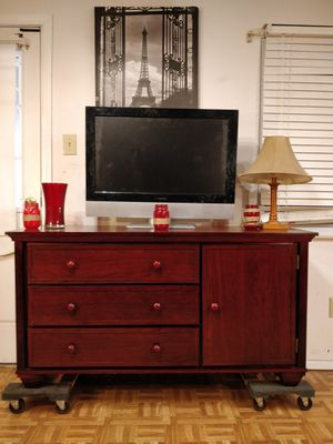 """Nice wooden GRACO dresser/TV stand with big drawers and shelf cabinet in good condition, all drawers working well. L56""""*W19.5""""*H29.7"""" for Sale in Annandale, VA"""