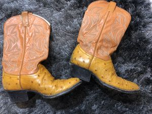Men's ostrich Cowboy boot Preowned 8 EE for Sale in Las Vegas, NV