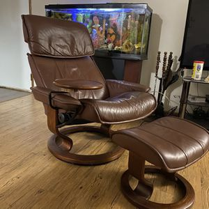 Ekornes Stressless Recliner And Footstool for Sale in Milwaukie, OR