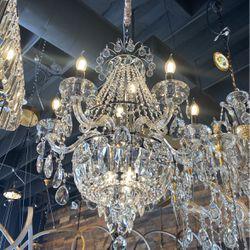 Crystal Chandelier Italy Design Lighting Fixture Chandelier for Sale in Laguna Beach,  CA