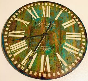 Decorative wall art wood Clock W19 inch for Sale in Chandler, AZ