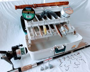 Big Boys Fishing Outfit - Rod, Reel, Tackle for Sale in Phoenix, AZ