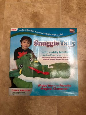 Snuggie tail green dragon blanket for Sale in Richmond, TX