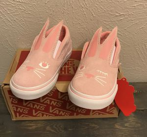 fa245fc8b39 Vans Rabbit Ears pink Easter size 7c 🐰 for Sale in Katy
