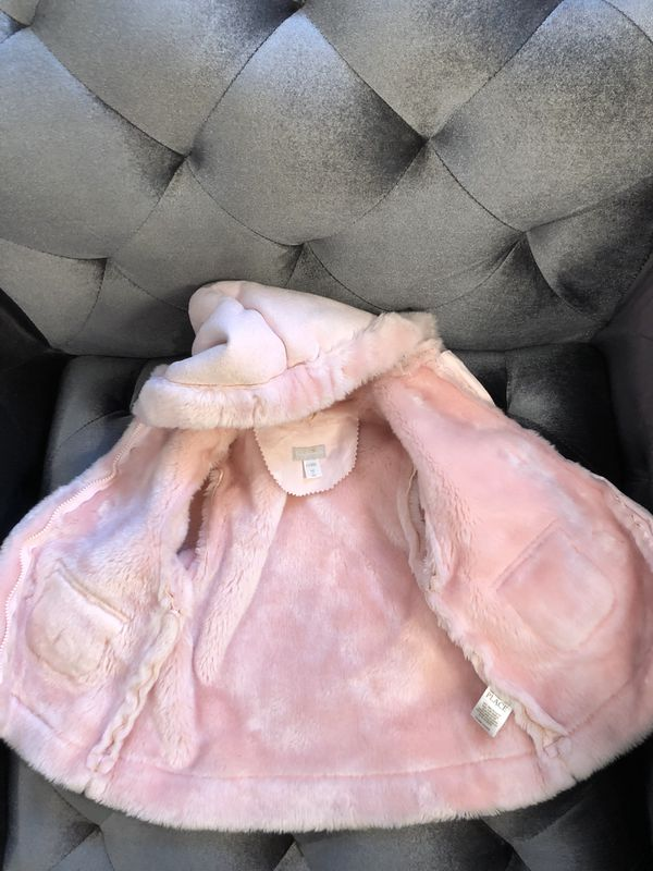NEW Baby Luxuries Coat for girls 6-9 mo