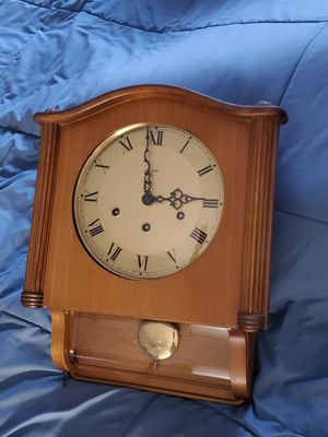 Antique Mauthe Wall Clock made in Germany- Westminister chime with key for Sale in Riverside, CA