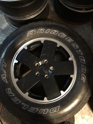 Jeep wrangle jk wheels and tires for Sale in Auburn, WA