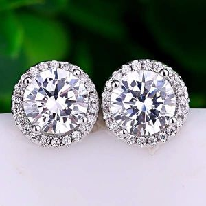 (FREE SHIPPING) Woman's Jewelry Brand New Round White Diamond Earrings Wedding Band for Sale in Indianapolis, IN