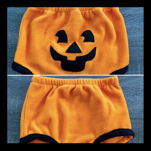 Baby Pumpkin 🎃 jack-o'-lantern Diaper Cover size 6-9 months. Perfect Halloween fall autumn outfit for your baby, newborn, toddler, nephew, niece, c for Sale in Hoffman Estates, IL