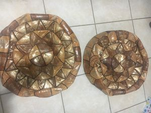 2 leather bean bag chairs for Sale in Boyds, MD