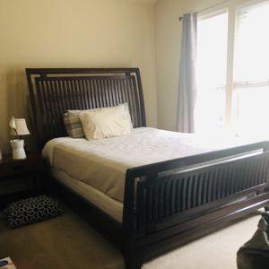 Queen Sleigh Bed, 2 Night Stands, Mattress, Dresser With Mirror for Sale in Sammamish, WA