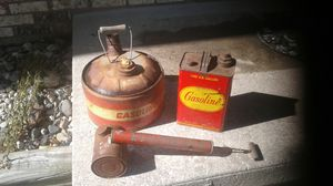 Vintage gas cans and sprayer for Sale in Bay City, MI