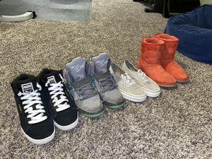 Puma jordan's Ugg Vans girl's shoes size 4 for Sale in Brighton, CO