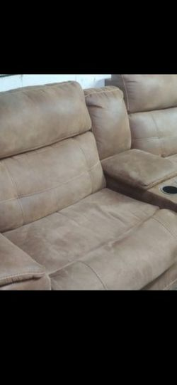 Reclining Soft Leather Couch for Sale in Masontown,  PA