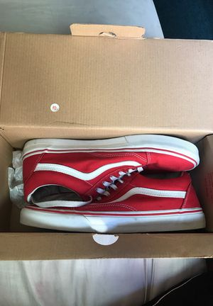 Size 10 Red Vans condition 8.5 out 10 hit me up serious buyer for Sale in San Francisco, CA