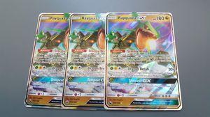 Rayquaza GX x3 Set Pokemon Cards for Sale in Phoenix, AZ