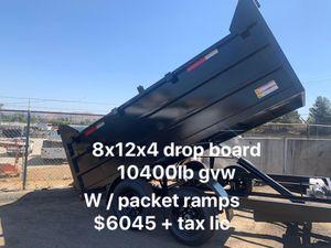 New Dump Trailer hd 8x12x4 dB 3 / ramos $6045 + tax lic for Sale in Whittier, CA
