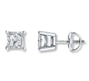 18k white diamond stud earrings for Sale in Boston, MA