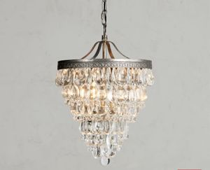 2 Pottery Barn Clarissa Crystal Drop Small Round Chandelier - still in box for Sale in Woodway, WA