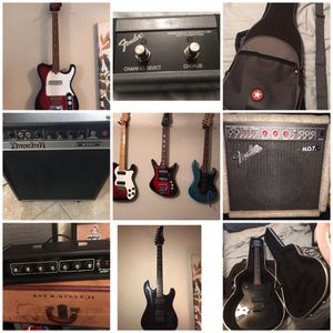 Guitars amps PA heads for Sale in Houston, TX