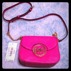 Michael kors purse pink and silver for Sale in Ankeny, IA